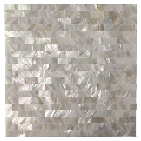 Peel And Stick Groutless Tile Backsplash by Smart Tiles Subway 9 7 X 10 9 White Peel Stick