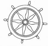 Nautical Wheel Steering Anchor Clipart Coloring Ship Pages Pirate Drawing Ships Template Wheels Mormon Steamboat Printable Printables Minnow Menu Sketch sketch template