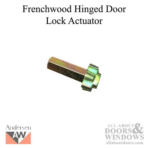 cross shaped lock actuator andersen frenchwood handleset