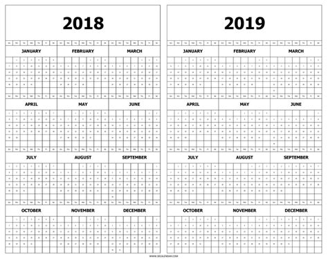 2018 2019 school year calendar template 2018 2019 yearly calendar template printable monthly