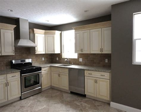 white cabinets gray walls dark gray walls with antique white cabinets and stainless