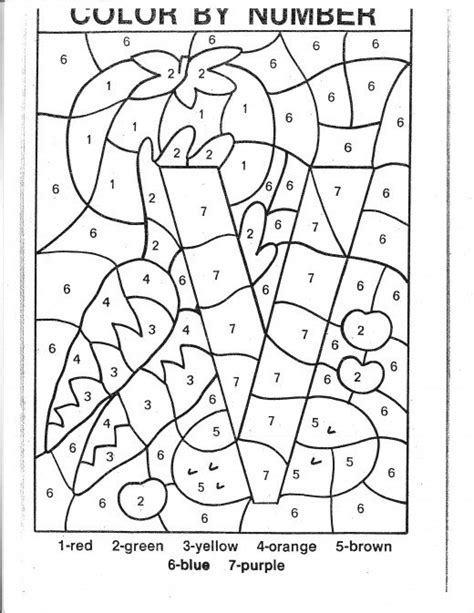 Coloring Pages Color By Number Kindergarten  New Calendar Template Site, Color By Numbers