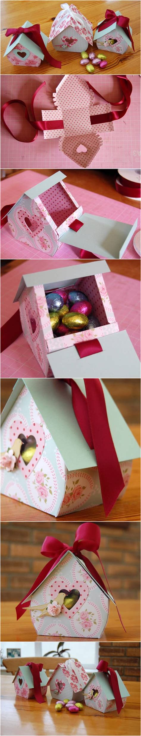 Very simple edit with smart layers. DIY Bird Nest Gift Box | iCreativeIdeas.com