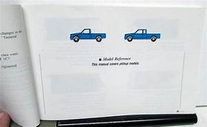 1991 Chevrolet Truck Owners Manual S10 Pickup Care  U0026 Operation Instructions