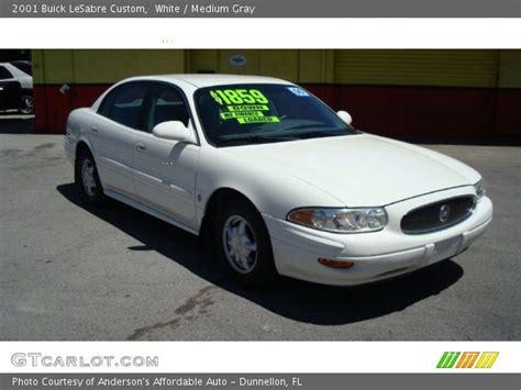 2001 Buick Lesabre Custom by White 2001 Buick Lesabre Custom Medium Gray Interior