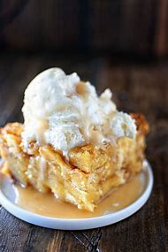 Eggnog Bread Pudding with Rum Sauce