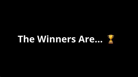 Contest Winners Announced - YouTube