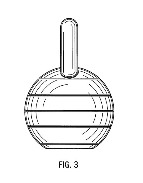 patents kettlebell drawing