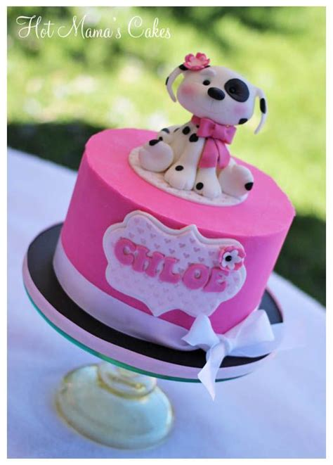 puppy cake  chloe cake  ganached  white