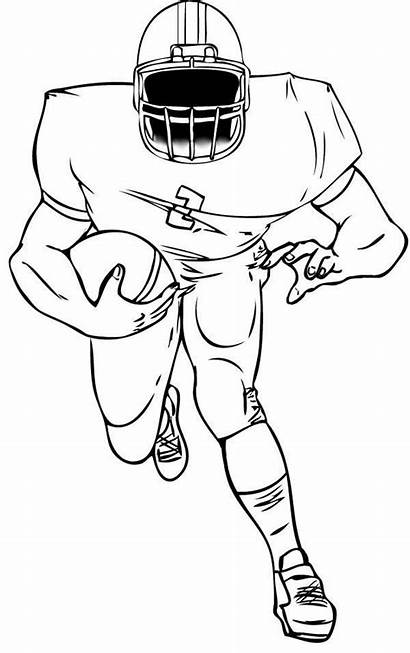 Football Coloring Player Pages Players Drawing Nfl