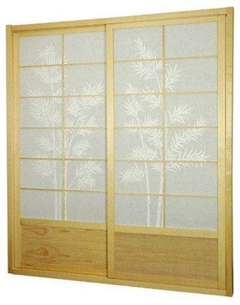 ft tall bamboo tree shoji sliding door kit natural
