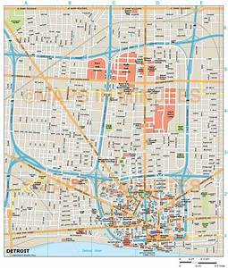 Royalty Free Detroit Illustrator Vector Format City Map