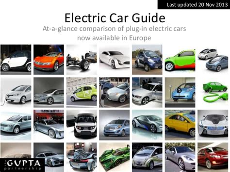 Available Electric Cars by A Comparison Of Performance And Specification Of Electric