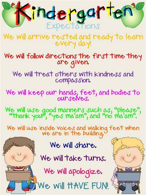 kindergarten expectations posters classroom 717 | 9377f122d57fd549d13e1824afb52f6c