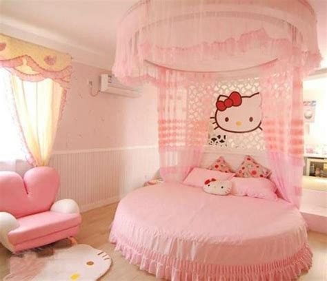 kitty pink bedroom decorating