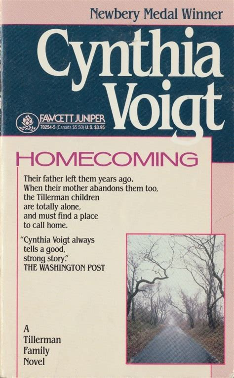 homecoming quotes cynthia voigt image quotes