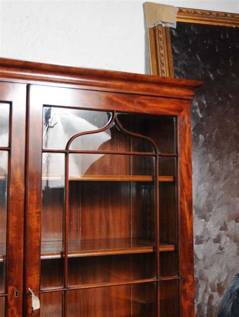 Glass Fronted Bookcases Uk by Regency Mahogany Bookcase Glass Fronted Display Cabinet