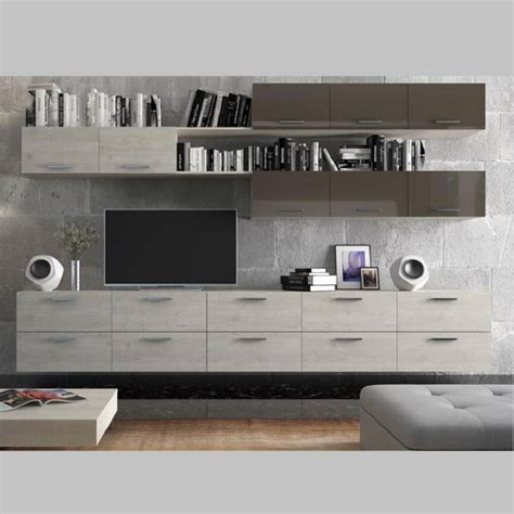 chambre couleur chaude ensemble meuble tv torres décoration séjour