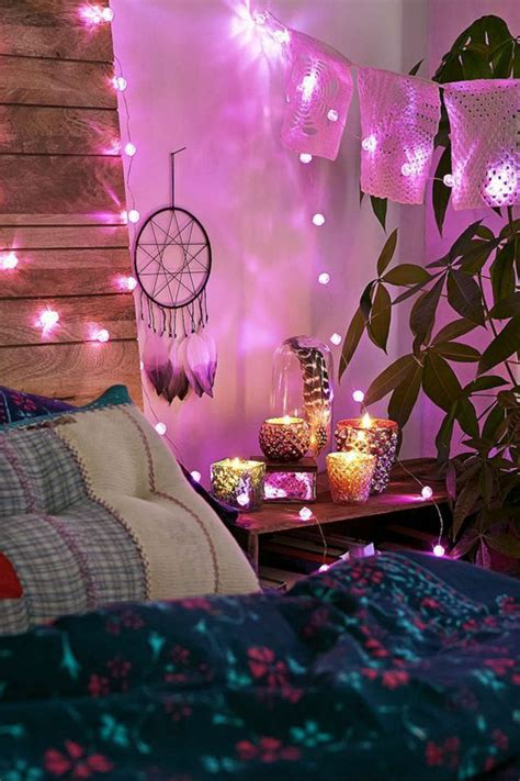 guirlande lumineuse chambre fille decoration lumineuse chambre