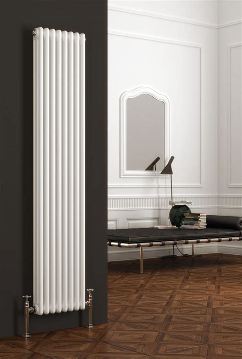 reina colona  column vertical radiator white