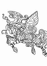 Flying Horse Coloring Kleurplaat Vliegend Paard Pages Printable Grote Afbeelding sketch template
