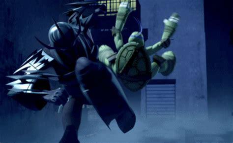 image donnie kicked  shreddergif teenage mutant