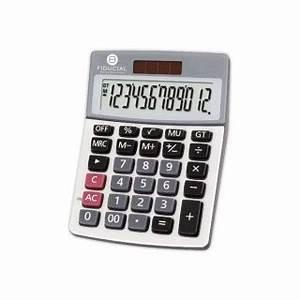 Calculatrice De Bureau FIDUCIAL P12 Compacte 12 Chiffres