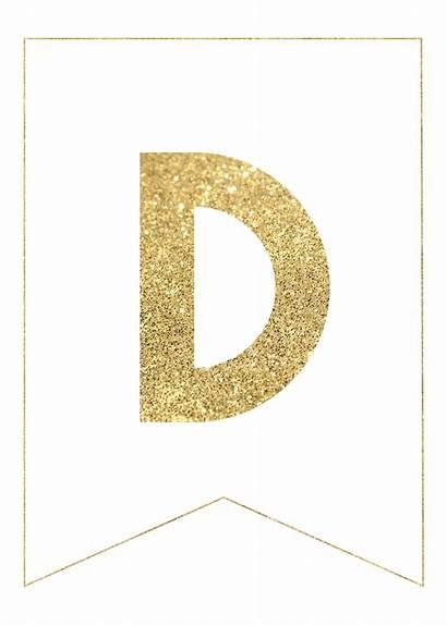 Banner Gold Letters Printable Ramadan Decorations Alphabet