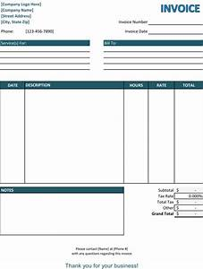 5 service invoice templates for word and excelr for Free invoice template professional services invoice template word