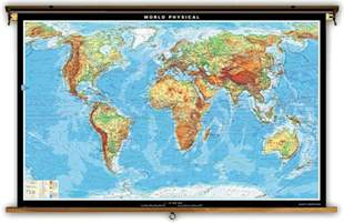 World Physical Map Labeled