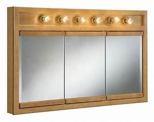 """Design House 530626 Nutmeg Oak 48"""" Framed Triple Door"""