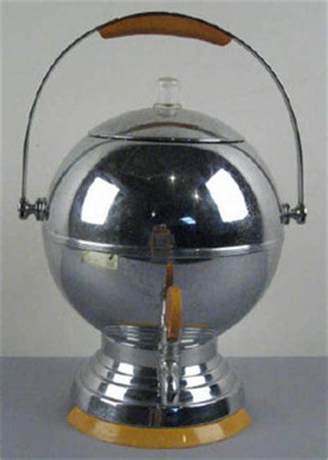coffeepot art deco manning bowman chrome ball bakelite