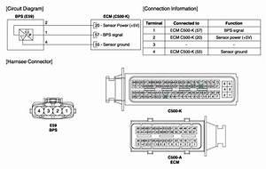 Hyundai Sonata  Boost Pressure Sensor  Bps  Schematic