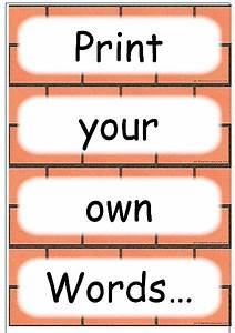 editable word card templates With printable word wall template