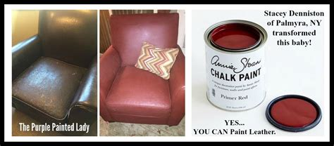 Before & After Chalk Paint® On A Worn Leather Chair