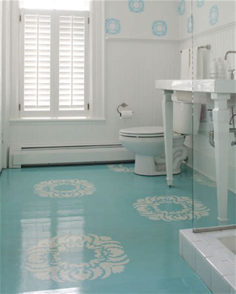 instead of tile or linoleum paint floors with a high