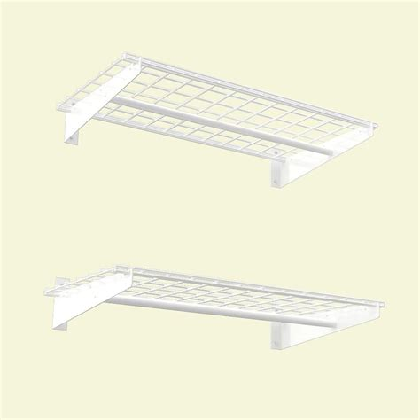 home depot hanging ls hyloft 36x18 inch wall shelf 2 pack white finish with