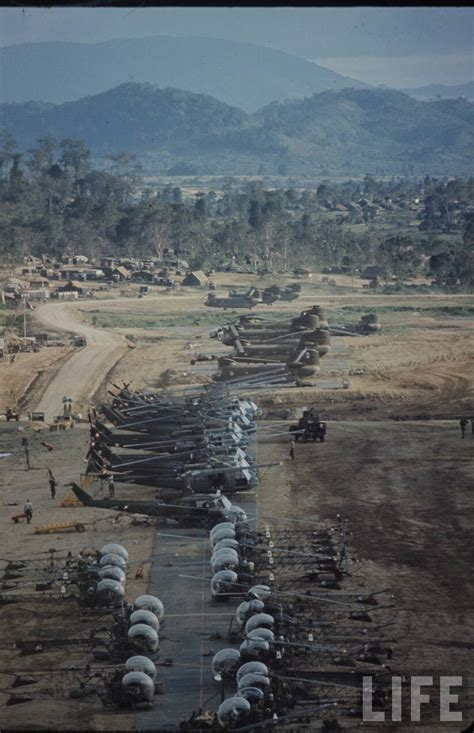 Vietnam War Helicopter Base