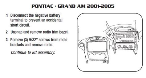 2004 Pontiac Grand Am Radio Wiring Harnes by 2003 Pontiac Grand Aminstallation