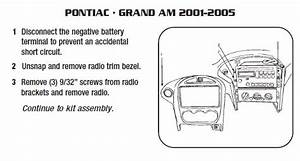 2005 Pontiac Grand Am Installation Parts  Harness  Wires