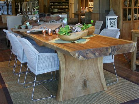 201 tourdissant table salle a manger bois exotique avec table tronc darbre en bois exotique