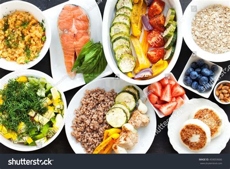 Health Fitness Food Lunch Boxes Set Stock Photo 459059686
