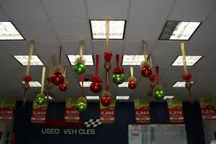 balls and shaped christmas ceiling decorations large red flickr
