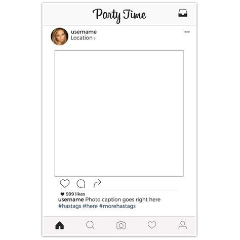 instagram frame prop template insta social media selfie frame photo booth prop poster