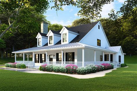 Country Home Plans Wrap Around Porch by Country Style House Plan 4 Beds 3 Baths 2180 Sq Ft Plan