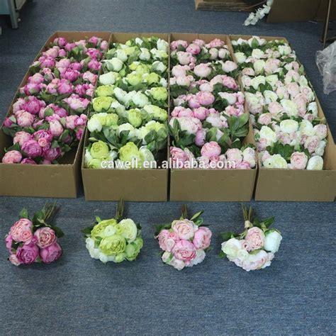 yiwu bulk wholesale  wedding bridal peony silk