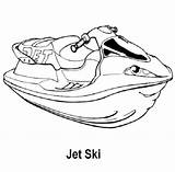 Coloring Pages Jet Ski Airplane Jetski Drawing Train Skiing Projects Discover Getdrawings sketch template