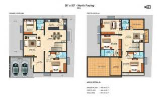 villa floor plans 50x50 nf 4 bhk duplex villa projects to try