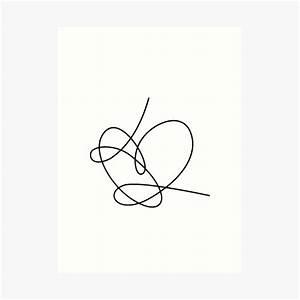 U0026quot Bts Answer Heart Love Yourself  Black  U0026quot  Art Print By Laurki