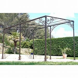pergola adossee fer forge plus de 12 m2 leroy merlin With beautiful tonnelle jardin fer forge 6 tonnelle pergola toiture de terrasse leroy merlin